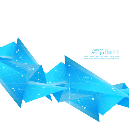 angled: Abstract background with geometric shapes angled. Illustration