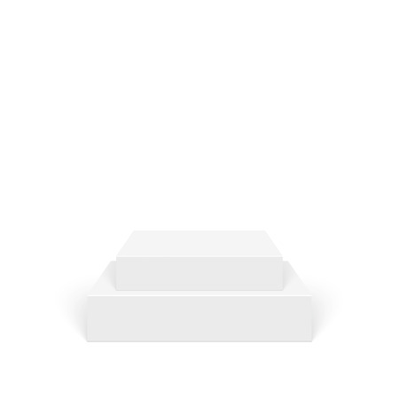 plataforma: Pedestal para la exhibición. Plataforma para el diseño. Realista podio vacío 3D Vectores
