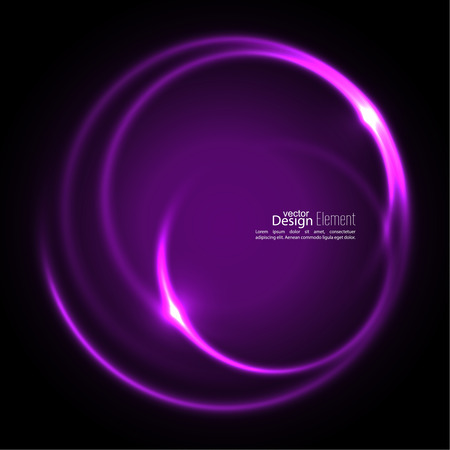 curl whirlpool: Abstract background with luminous swirling backdrop. Intersection curves. Glowing spiral. The energy flow tunnel. Vector. purple, violet