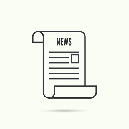 newsprint: Icon newspaper. News. vector for web and mobile applications