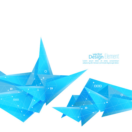 Abstract background with geometric shapes angled. Concept new technology and dynamic motion. Digital Data Visualization. For cover book, brochure, flyer, poster, magazine, booklet, leaflet. vector