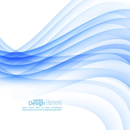 Abstract background with blue stripes and curves. Concept new technology and dynamic motion. Digital Data Visualization. Annual Report with information wave