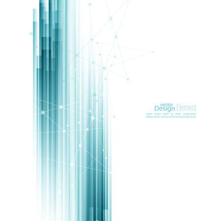 Résumé de fond avec des rayures bleues. Concept nouvelle technologie et le mouvement dynamique. Visualisation de données numériques. Rapport annuel avec des points d'information, cercle