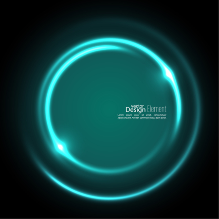Abstract background with luminous swirling backdrop. Intersection curves. Glowing spiral. The energy flow tunnel. Vector. turquoise, green