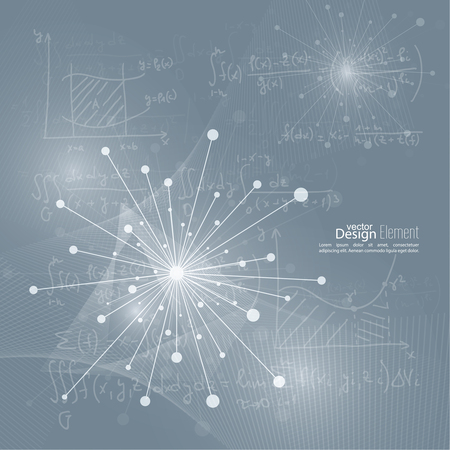 teorema: Matriz con part�culas emitidas din�micas. Estructura de la mol�cula de nodo. Ciencia y concepto de conexi�n. Explosi�n y destrucci�n. Techno Research, las c�lulas del cerebro, neuronas Vectores