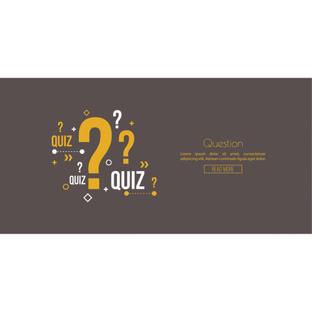 questionably: Quiz background. The concept is the question with the answer. vector. Line art. Web and mobile app. Illustration