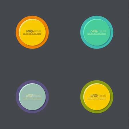 varicolored: Vector abstract circles set. Abstract vector banners. Design elements. Colored web buttons. yellow, green, orange, purple