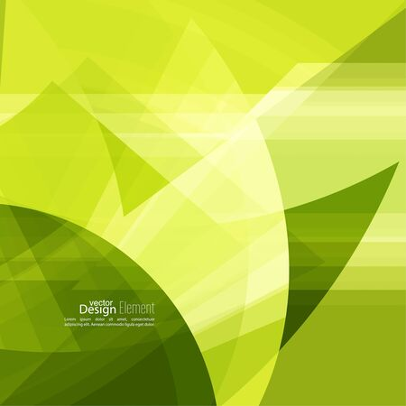 abstract green: Abstract background with green chaotic stripes corner. Illustration