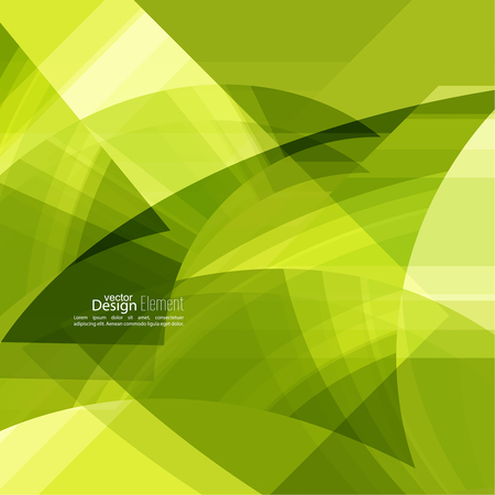 green technology: Abstract background with green chaotic stripes corner. Concept new technology and dynamic motion. Digital Data Visualization. For cover book, brochure, flyer, poster, magazine, booklet, leaflet