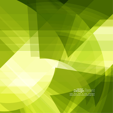 slant: Abstract background with green chaotic stripes corner. Concept new technology and dynamic motion. Digital Data Visualization. For cover book, brochure, flyer, poster, magazine, booklet, leaflet