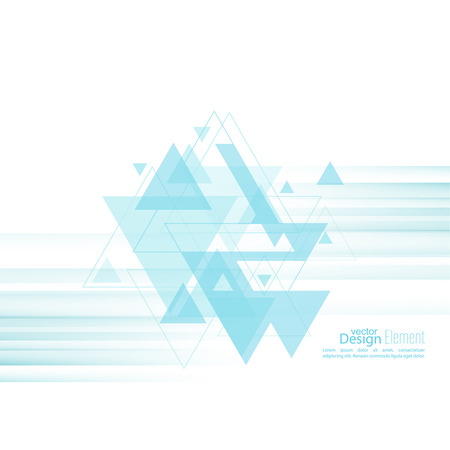 dynamic motion: Abstract background with blue stripes, stream flying triangles debris. Concept new technology and dynamic motion. Digital Data Visualization.