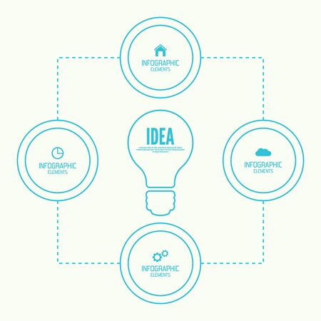 informative: Comparative chart with banner for presentation, informative forms. Option. concept of big ideas inspiration innovation, invention, effective thinking. Illustration