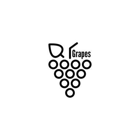 Grapevine leaves icon. Vektoros illusztráció