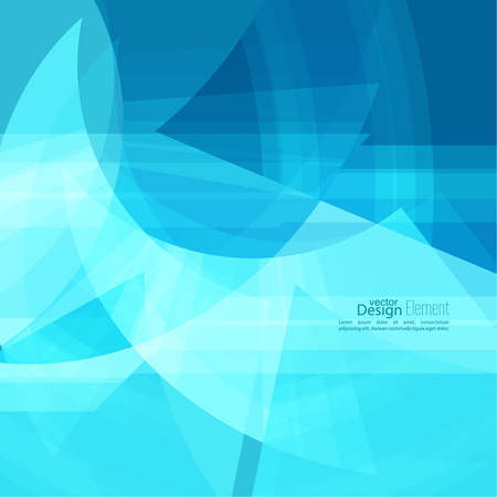 slant: Abstract background with blue chaotic stripes corner. Illustration