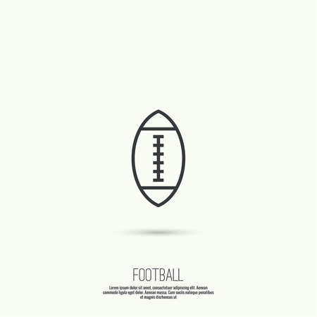 pigskin: Ball for football icon. Vector symbol sport Illustration
