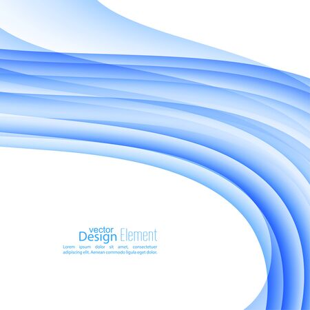 blue stripes: Abstract background with blue stripes and curves. Illustration