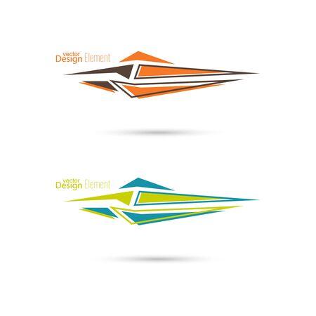 sharp: Vector arrow. Sharp dynamic geometric shape.