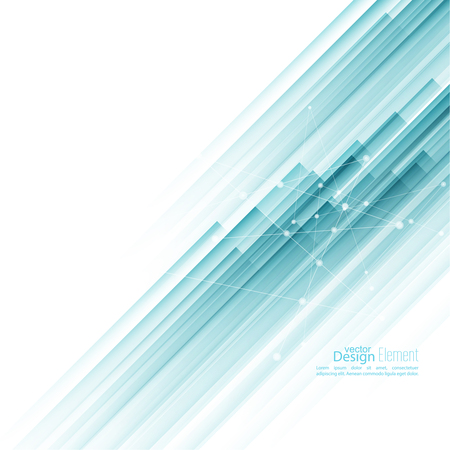 technology abstract background: Abstract background with blue diagonal stripes. Concept new technology and dynamic motion. Digital Data Visualization.  Annual Report with information dots, circle