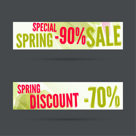 special price: Set of discount banners. Special offer. Price Spring sale Illustration