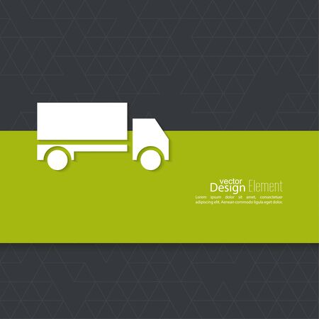 delivers: Freight transport. Concept delivery service. Truck delivers the goods.