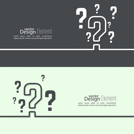 help symbol: Question mark icon. Help symbol. FAQ sign on background. vector