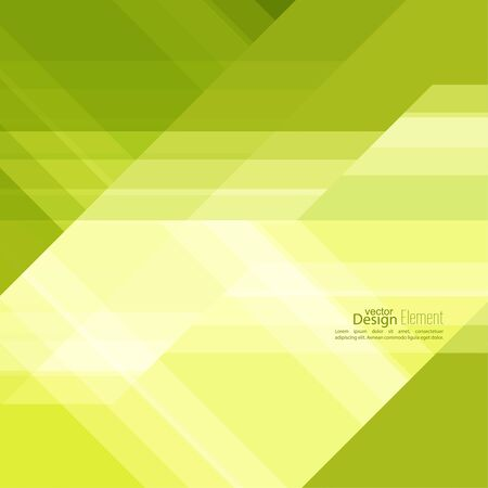 slant: Abstract background with green stripes corner. Concept new technology and dynamic motion.