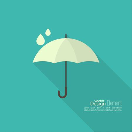 estaciones del año: icono de la muestra paraguas. Símbolo de protección contra la lluvia. Concepto de protección y seguridad, la época de lluvias.