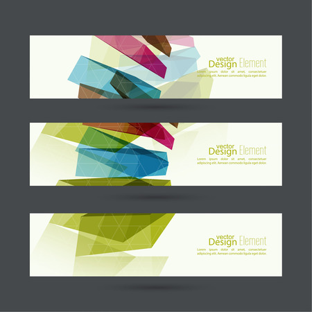 trellis: Set of abstract banners. header. Colored crystals, trellis structure. For web, mobile app, annual report.