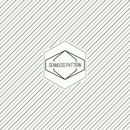 diagonal: Vector seamless pattern with hipster vintage old banner. Repeating geometric shapes, diagonal stripe