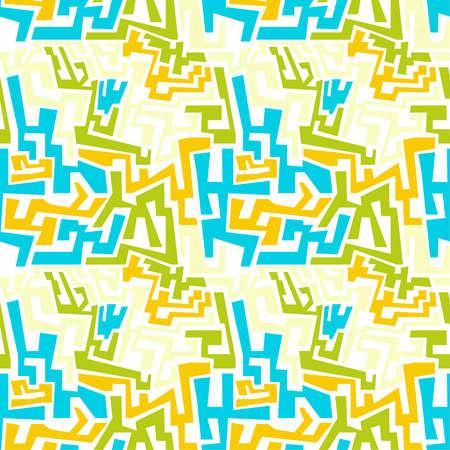 irregular: Vector seamless pattern with multi-colored geometric shapes of irregular shape. Illustration
