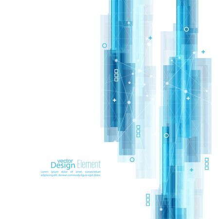 algorithm: Abstract background with blue stripes. Concept  new technology and dynamic motion. Illustration