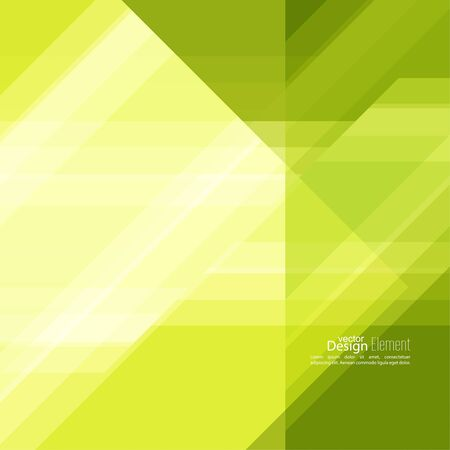 Abstract background with green stripes corner. Concept new technology and dynamic motion.