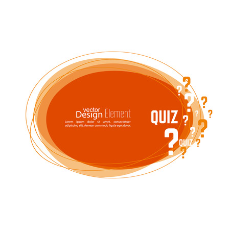 help symbol: Question mark icon. Help symbol. Quiz vector. Banner roundish form. The concept is the question with the answer.