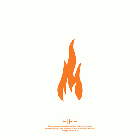 flames icon: Fire flames. Icon. vector logo design template. Illustration