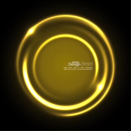 energy flow: Abstract background with luminous swirling backdrop. Intersection curves. Glowing spiral. The energy flow tunnel. Vector. yellow, gold