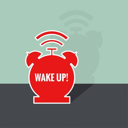 awakening: Background with alarm clock. The concept of early awakening. morning wake up and deadline. vector. flat design with shadow