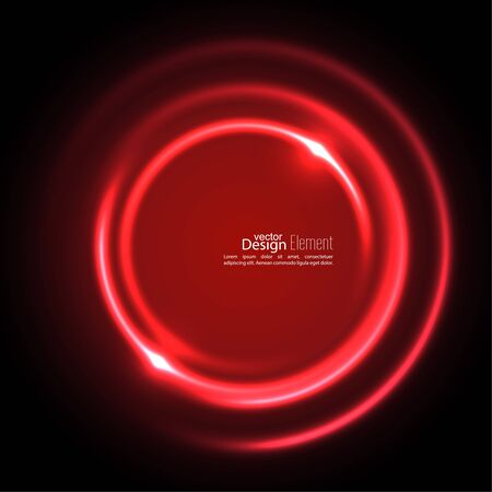 maroon: Abstract background with luminous swirling backdrop. Intersection curves. Glowing spiral. The energy flow tunnel. Vector. red, maroon, crimson, magenta, ruby