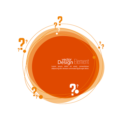 questionably: Question mark icon. Help symbol. FAQ sign on background. vector. Banner roundish form