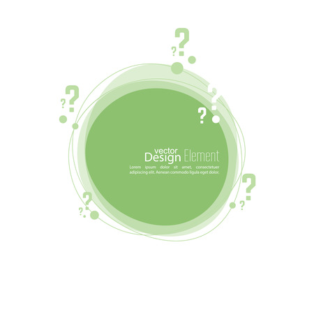 roundish: Question mark icon. Help symbol. FAQ sign on background. vector. Banner roundish form