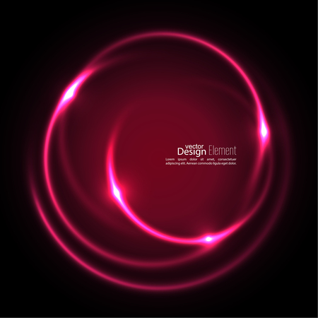 Abstract background with luminous swirling backdrop. Intersection curves. Glowing spiral. The energy flow tunnel. Vector. red, pink