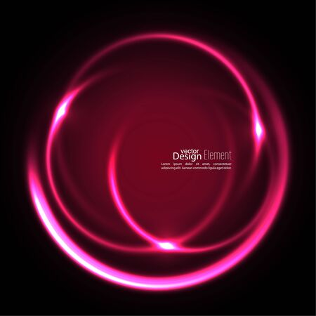 energy flow: Abstract background with luminous swirling backdrop. Intersection curves. Glowing spiral. The energy flow tunnel. Vector. red, pink