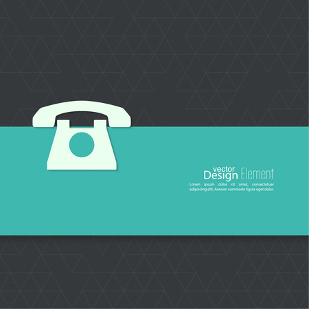 dialer: Abstract background with an old rotary telephone. Call technical support. Contacts.