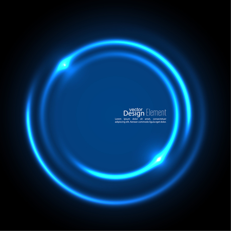 cerulean: Abstract background with luminous swirling backdrop. Intersection curves. Glowing spiral. The energy flow tunnel. Vector. blue, cerulean, cobalt, indigo, sapphire, ultramarine Illustration