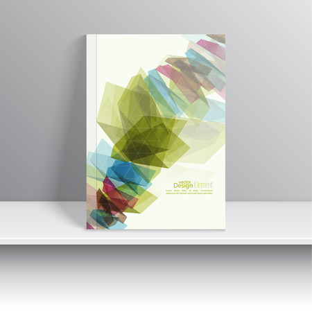 trellis: Magazine Cover with colored crystals, trellis structure. For book, brochure, flyer, poster, booklet, leaflet, postcard, business card, annual report. vector illustration. abstract background. Illustration