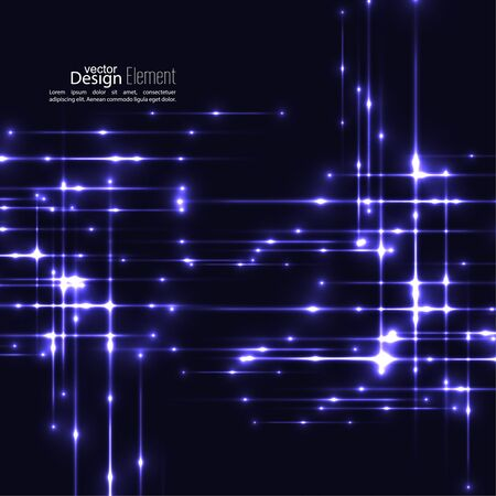 techno: Abstract background with glowing rays intersecting. Futuristic techno design. Horizontal, vertical line. For parties, annual reports, software, anniversary, scientific research. Vector