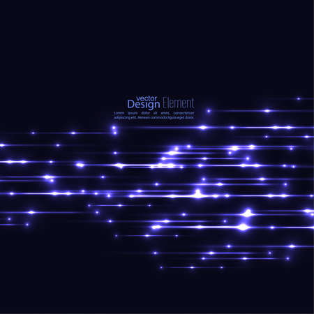 scientific research: Abstract background with glowing rays. Futuristic techno design. Horizontal line. For parties, annual reports, software, anniversary, scientific research. Vector