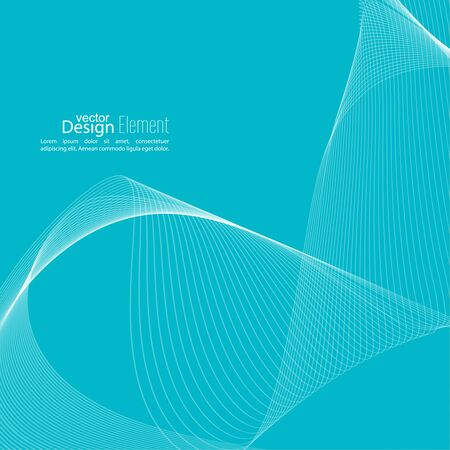 modulator: Abstract techno background with lines in waves. Technology, technical vector. Futuristic high tech design for scientific cover book, brochure, flyer, poster, magazine, website. Blue