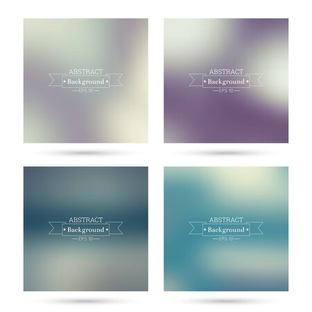 poster backgrounds: Set vector colorful abstract backgrounds blurred. For mobile app, book cover, booklet, poster, web sites, annual reports. blue, indigo, turquoise, yellow, green, purple, mauve, violet, magenta