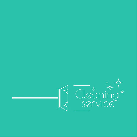 cleanliness: Vector icon brush for cleaning brooms. Linear icon. Thin line. The concept of home cleaning and cleanliness. The symbol of house cleaning.  outline icon. Brush for sweeping debris. cleaning service Illustration