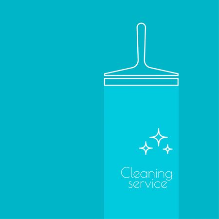 windows home: Abstract background with vector icon scraper for windows. Linear icon. Thin line. The concept of home cleaning and cleanliness. The symbol of house cleaning. cleaning service.